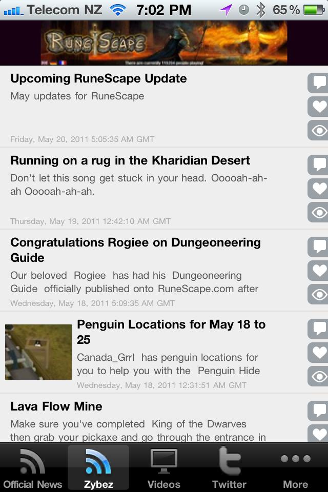 Screenshot RuneScape News